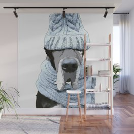 Great Dane Winter is Here Wall Mural