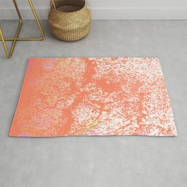 Rustic Peach, Abstract Art Texture Rug