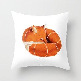 Fox 3 Throw Pillow