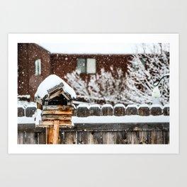 Snow House Art Print
