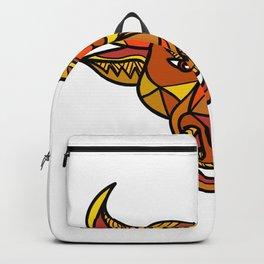Texas Longhorn Bull Color Mosaic Backpack