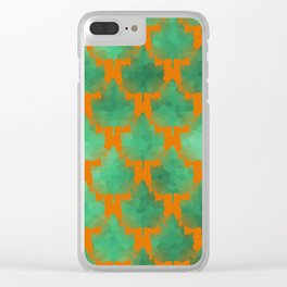 Leaf Line Up Clear iPhone Case