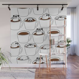 More Coffee Pug Wall Mural