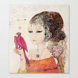 Crimson bird Canvas Print