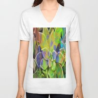 succulent V-neck T-shirts featuring succulent fantasy by  Agostino Lo Coco