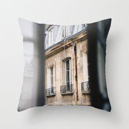 Paris Through the Window Throw Pillow