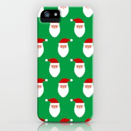 Christmas Santa Claus Jolly Contemporary Pattern iPhone Case
