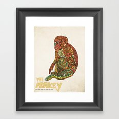The Monkey Framed Art Print