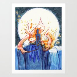 The Fox of Many Tales Art Print