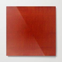 Red Watercolor Square Metal Print