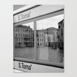 Vaporetto travel on the Grand canal, Venice Canvas Print
