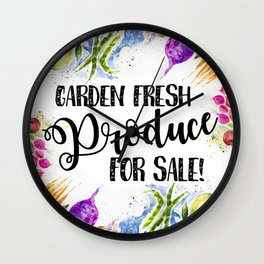Garden Fresh Produce For Sale Wall Clock