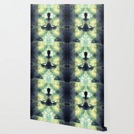 Yoga Asana  in Translucent Agate Wallpaper