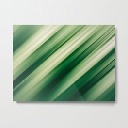 Abstract background blur motion green vegetable Metal Print