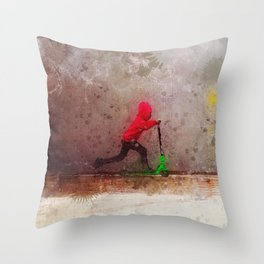The Wall - Green Scooter Throw Pillow