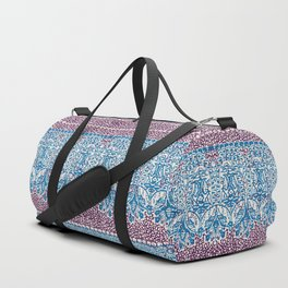 big paisley with floral lines on burgundy Duffle Bag