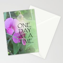 One Day at a Time Sweet Peas Stationery Cards