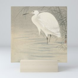 Little egret - Ohara Koson (1900-1930) Mini Art Print