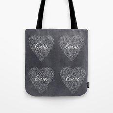 Love Heart Design {Black Version} Tote Bag