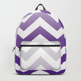 PURPLE FADE TO GREY CHEVRON Backpack