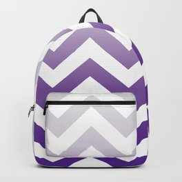 PURPLE FADE TO GREY CHEVRON Backpack