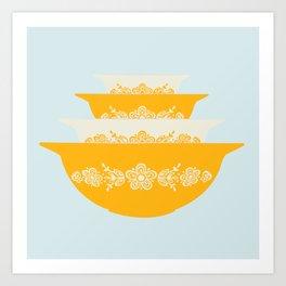 Butterfly Gold Cinderella Pyrex Art Print