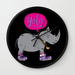 Yolo Rhino Wall Clock
