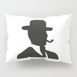 A sign for the toilet male Pillow Sham