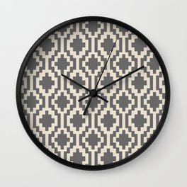 Mapuche Natural Black Wall Clock