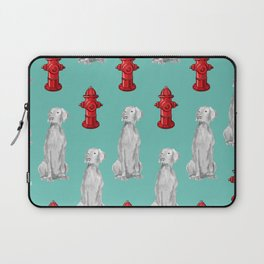HYDRANTS AND WEIMARANERS Laptop Sleeve