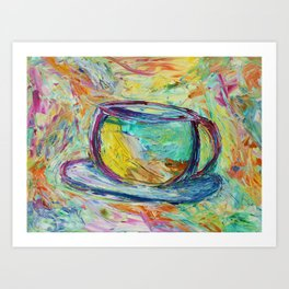 Coffee is my middle name! Art Print