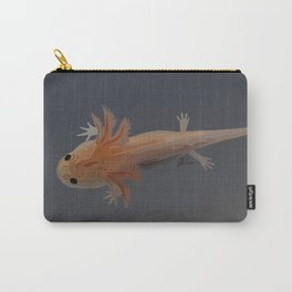 Axolotl Vector in Orange Carry-All Pouch
