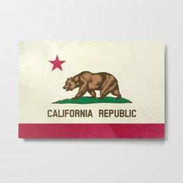 California Republic Flag Metal Print