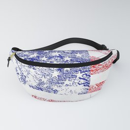 Grunge style American flag Fanny Pack