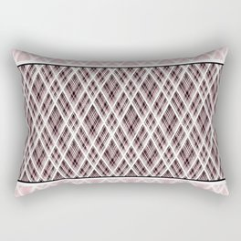 Brown, pink, white ,black tartan Rectangular Pillow
