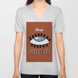 Keep Rollin' On Unisex V-Neck