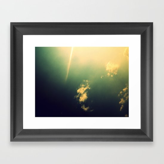 And a Lone Ray Shone Down Framed Art Print