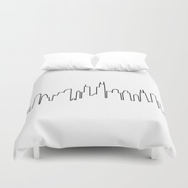 Chicago, Illinois City Skyline Duvet Cover