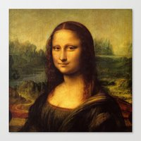 mona lisa Canvas Prints featuring Mona Lisa by Color and Patterns