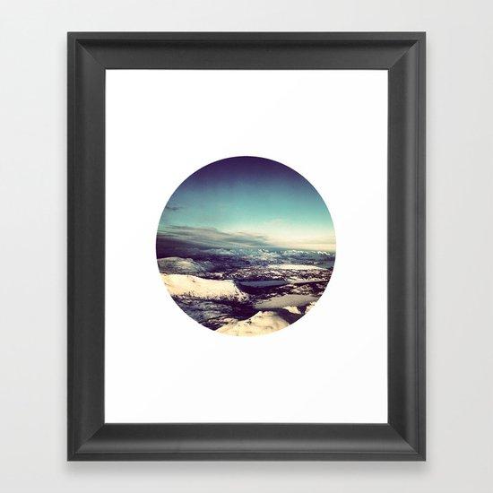 Telescope 4 arctic Framed Art Print