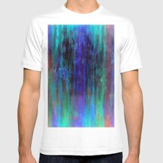 Electric MEDIUM White Mens Fitted Tee