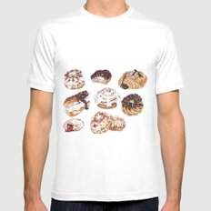 Donuts Mens Fitted Tee MEDIUM White