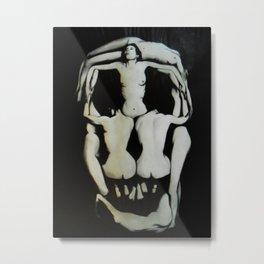 Dali Human Skull Metal Print