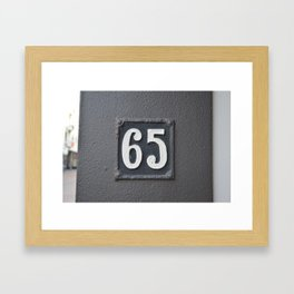 sixty five Framed Art Print