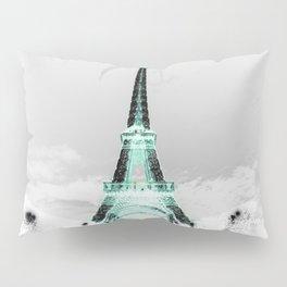 pariS Black & White + Mint Pillow Sham
