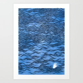 Man & Nature - The Dangerous Sea Art Print