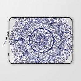 Blue Flower Mandala Laptop Sleeve