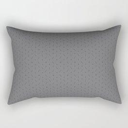 Claymore 7 Pattern - Medium Grey Rectangular Pillow