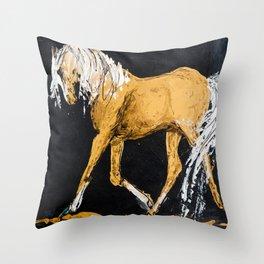 Blonde Horse Throw Pillow