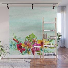 Tropical Summer Flowers 2 Wall Mural